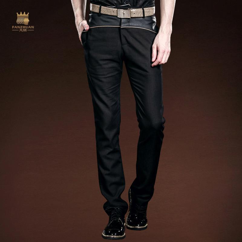 f32eb7142 FANZHUAN Marcas Diseñador de Ropa Tide Marca Hombres Pantalones Casuales de  Verano Pantalones Finos de La Moda Empalme Delgados Rectos Pantalones de ...