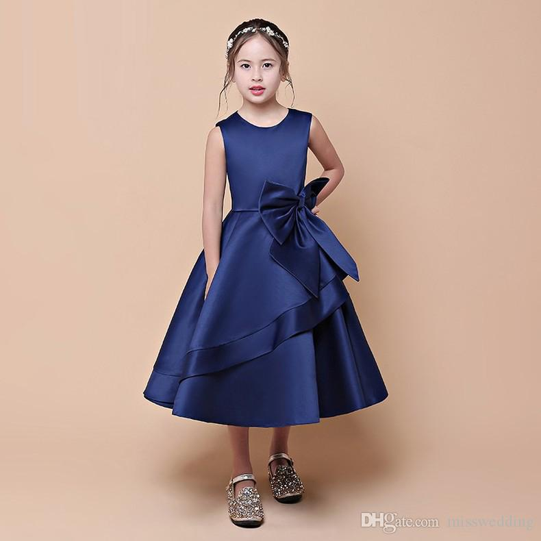 Dark Blue Flower Girl Dresses