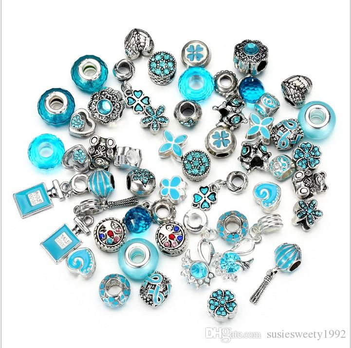 607fc8518 2019 Wholesale Fits Pandora Bracelets Murano Glass Crystal Silver Charms  Bead Enamel Charm Beads Diy European Sterling Necklace Jewelry From  Susiesweety1992 ...