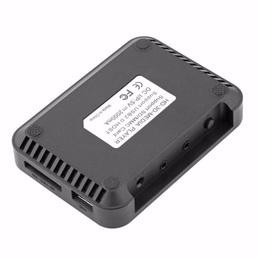 1080P HD مشغل الوسائط SD / MMC الفيديو SD MMC RMVB MP3 تلفزيون متعدد USB HDMI ميديا بلاير صندوق دعم USB محرك الأقراص الصلبة