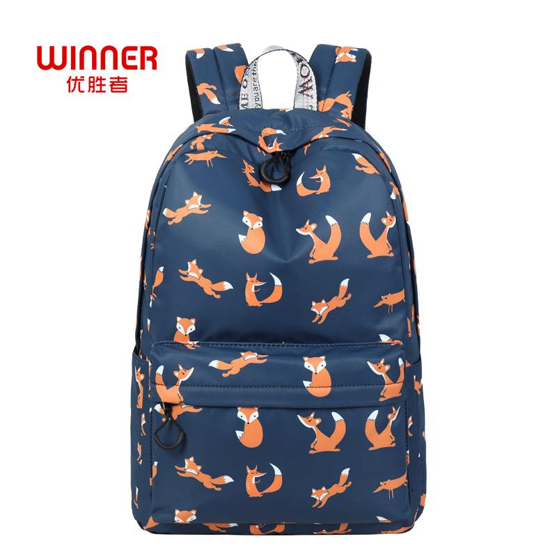 e9d4790581bb WINNER Cute Animal Fox Printing School Backpacks Waterproof Women Bag  Laptop Backpack Female Mochila Bolsas E Sacolas Y18110201 Boys Backpacks  Hydration ...