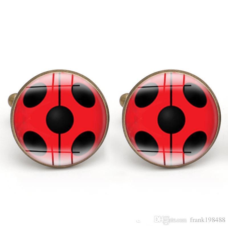Gemelos Insectos Cabujón de cristal Escarabajo Gemelos Hombres Araña Fabricación de joyas Accesorios Padrinos de boda Regalos Cobre al por mayor