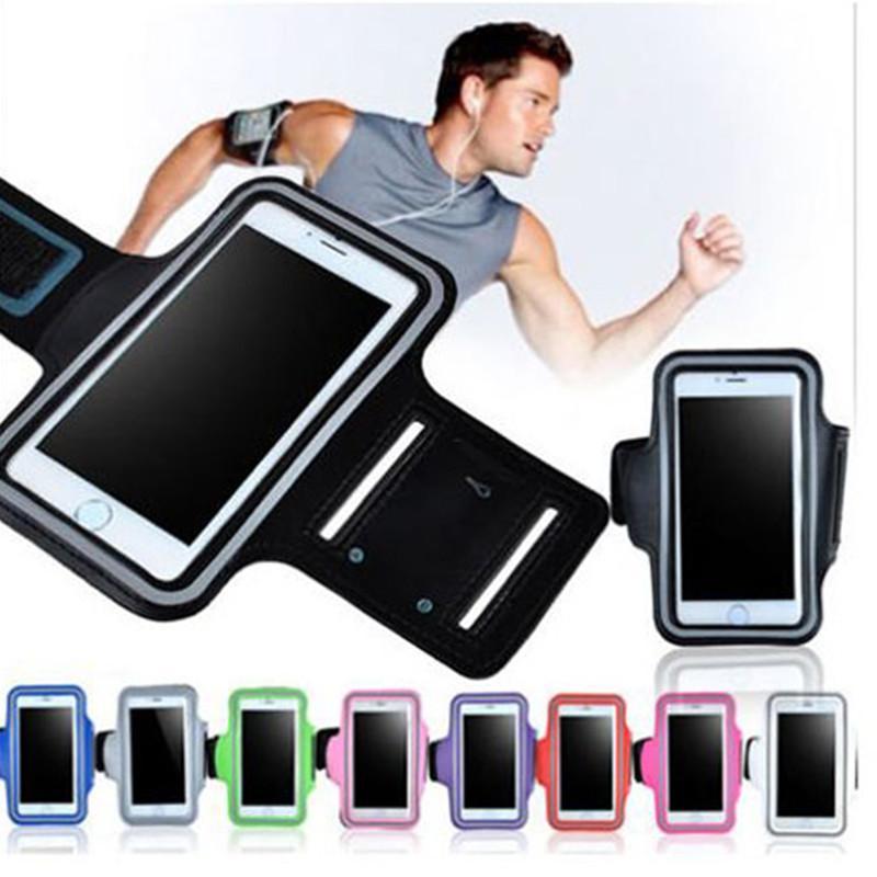 161c4b567 Compre Faixa De Braço À Prova D  água Esporte Correndo Braçadeira Protetor  Suave Bolsa Case Capa Para Iphone X Samsung Galaxy Bra .