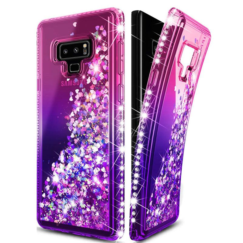 247c72ff11d For Samsung Note 9 Case Luxury Glitter Quicksand Liquid Floating Flowing  Sparkle Shiny Bling Diamond Phone Cases For Samsung Note 9 S9 Spigen Cell  Phone ...
