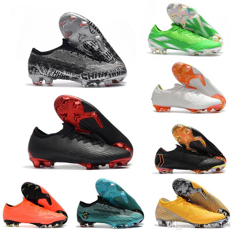 92468ecfa0fe04 2019 Vapor XII Elite SE FG Football Boots CR7 Mercurial Vapor 360 SHHH FG  Soccer Shoes ACC MercurialX Neymar 2019 Superfly VI Soccer Cleats From  Qing8188