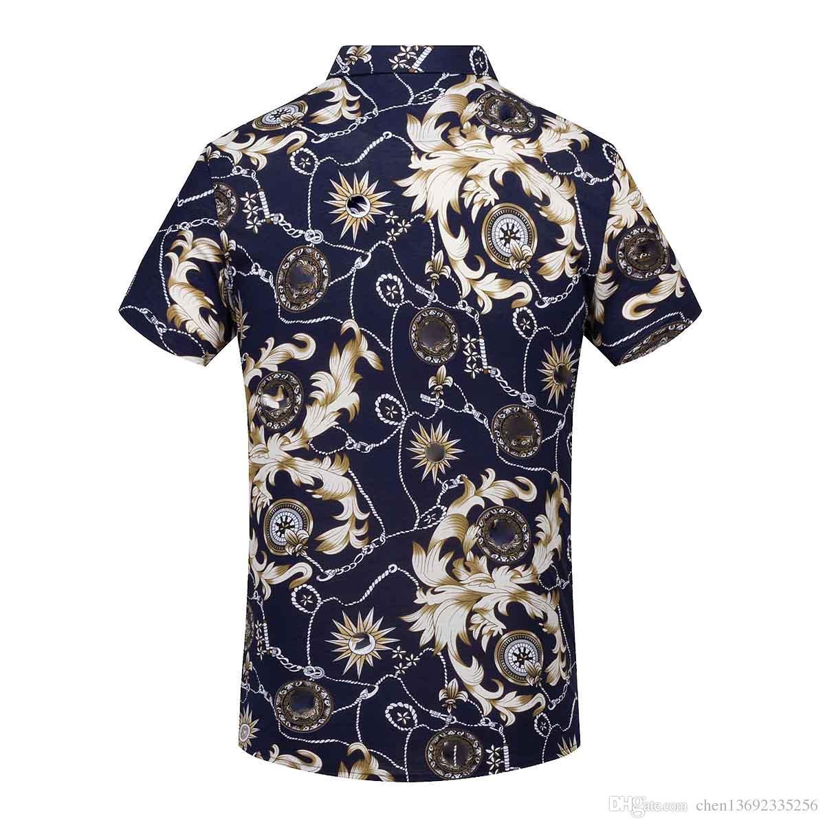 2019 Floral Full 3d Printed Polo Shirt Men Short Sleeve 2018 Summer