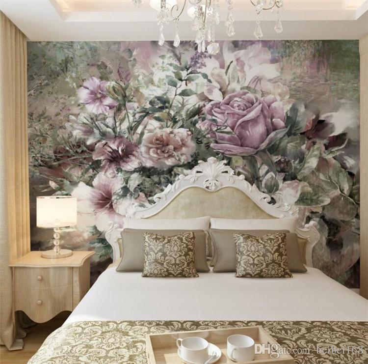 Европейский ретро фото обои фрески для гостиной Спальня стены искусства декора живопись papier peint 3d цветок обои