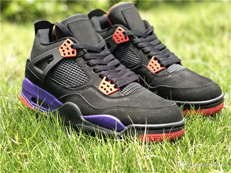 00d9c7701d0930 Cheap 2018 Release 4 Drake NRG Raptors 4S IV Basketball Shoes Sneakers For Men  Black Purple Red AQ3816-056 Come With Original Box 40-47