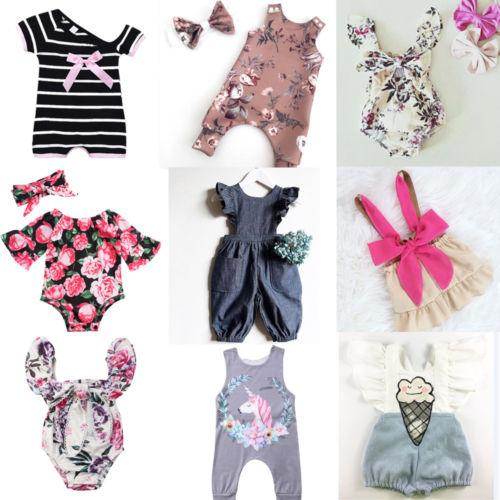f99f37e83d1f9 2019 2018 Summer Newborn Baby Kids Girls Ruffle Cute Sweet Romper Jumpsuit  Clothes 7 Stylish Outfit From Cover3085, $26.8 | DHgate.Com