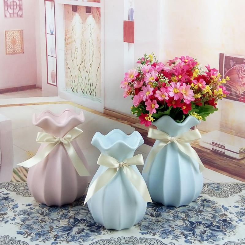 Simple Modern Ceramic Flower Vase Small Fresh Living Room Table Home