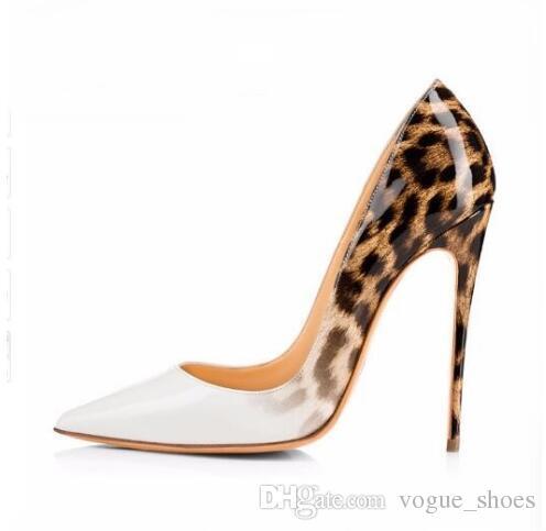 Acquista Le Donne Di Marca Leopard Pumps 10cm 12cm Scarpe A Punta Tacco  Alto Tacchi A Spillo Scarpe Sexy Designer Scarpe Con Tacco In Pelle  Verniciata ... 4383f1e5dc1