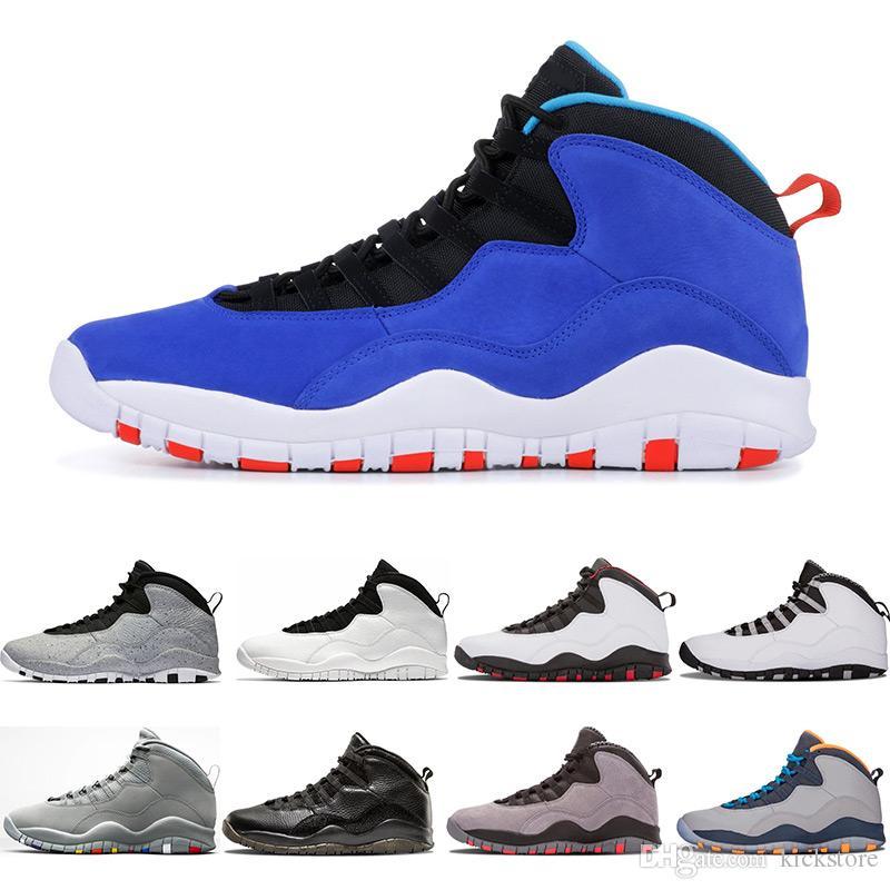 e267d4e9d2b7 New Huarache Light 10 Blue 10s Men Basketball White Cement Westbrook ...