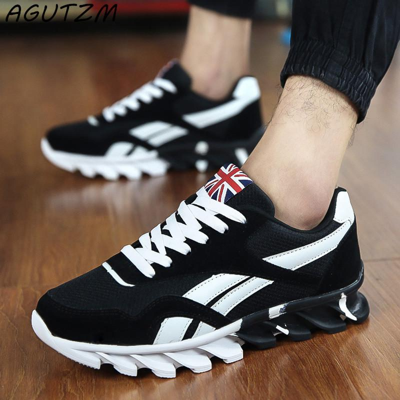 51c2a1d071da3 AGUTZM Spring Autumn Casual Shoes Men Sneaker Trendy Comfortable Mesh  Fashion Lace Up Adult Male Shoes Zapatos Hombre Skechers Shoes Mens Dress  Shoes From ...