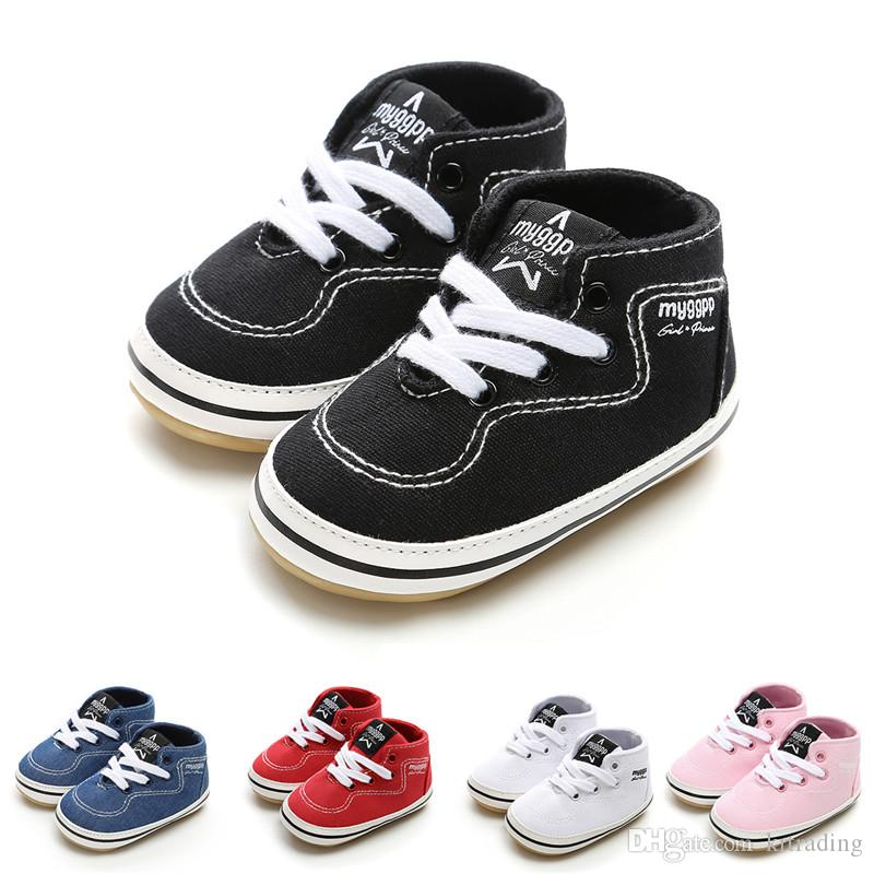 d3a2a82bb3222 Infants Baby Rubber Soft Sole Sneakers Fashion Baby Boys Girls Anti-slip  Lace-up First Walker Shoes Spring Auntumn 3 Sizes 11-13cm Baby Rubber Soft  Sole ...