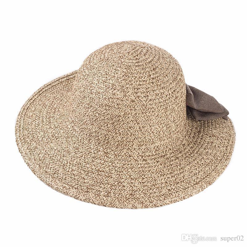 7d4a3d484c7 Female Shi Mini Design Big Hand Woven Baby Girl Sun Hat