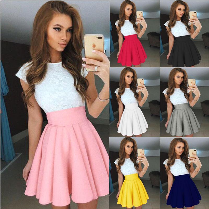 2ee2d65c1 Falda corta de las señoras falda escocesa de las señoras del verano faldas  de moda multicoloras de moda de verano