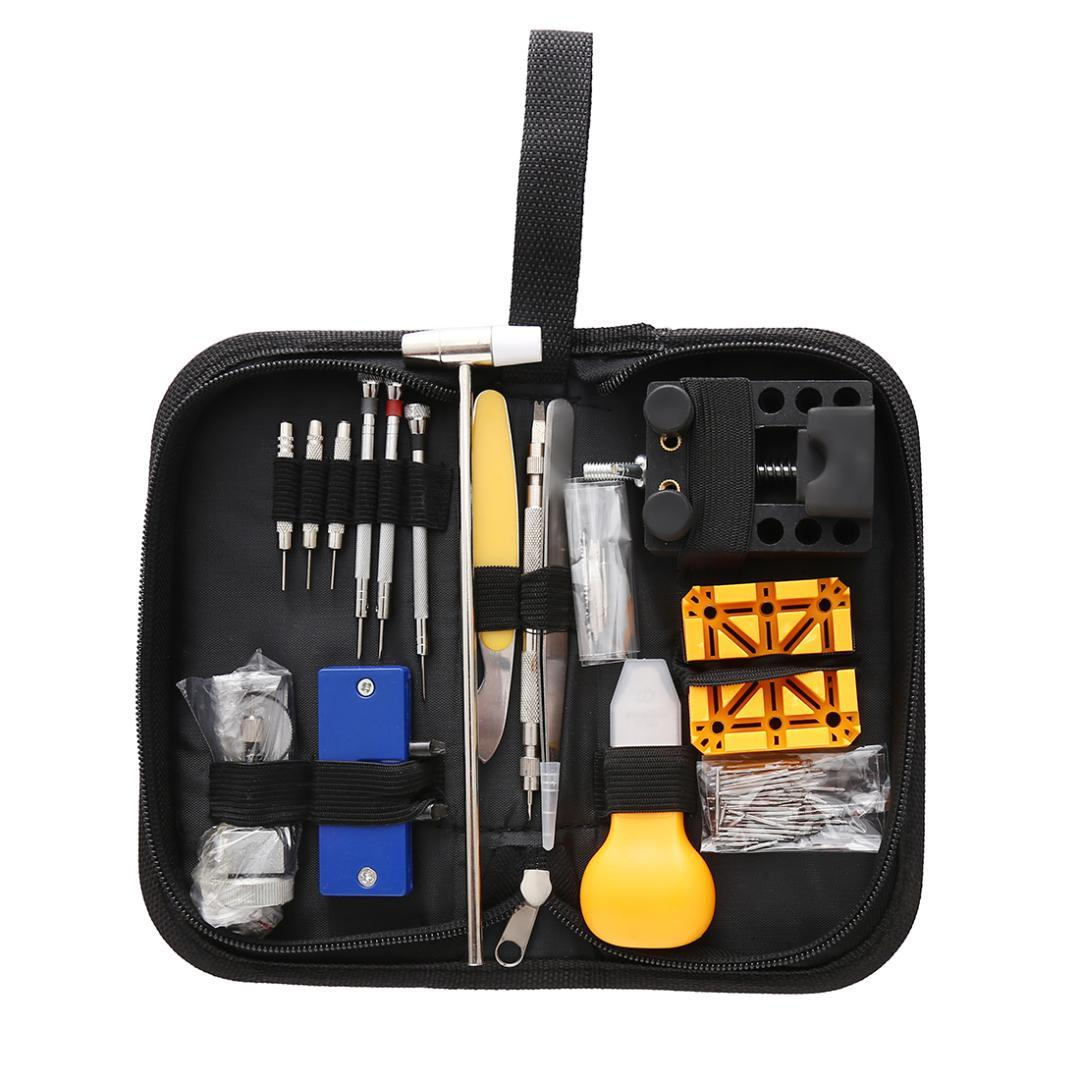 130Pcs/set Hand Tools Kits Watch Repair Tool Kit Clock Remover Opener Screwdriver Set Watchmaker