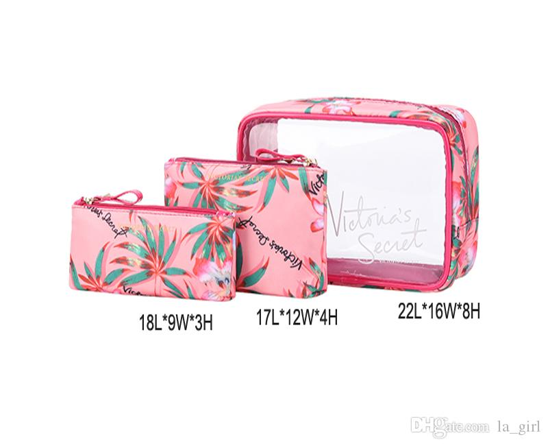 VS Brand 3 in 1 Cosmetic Bag Multifunctional large Capacity Make up Bag Portable Whatproof Travel Bags for Women Drop Shipping