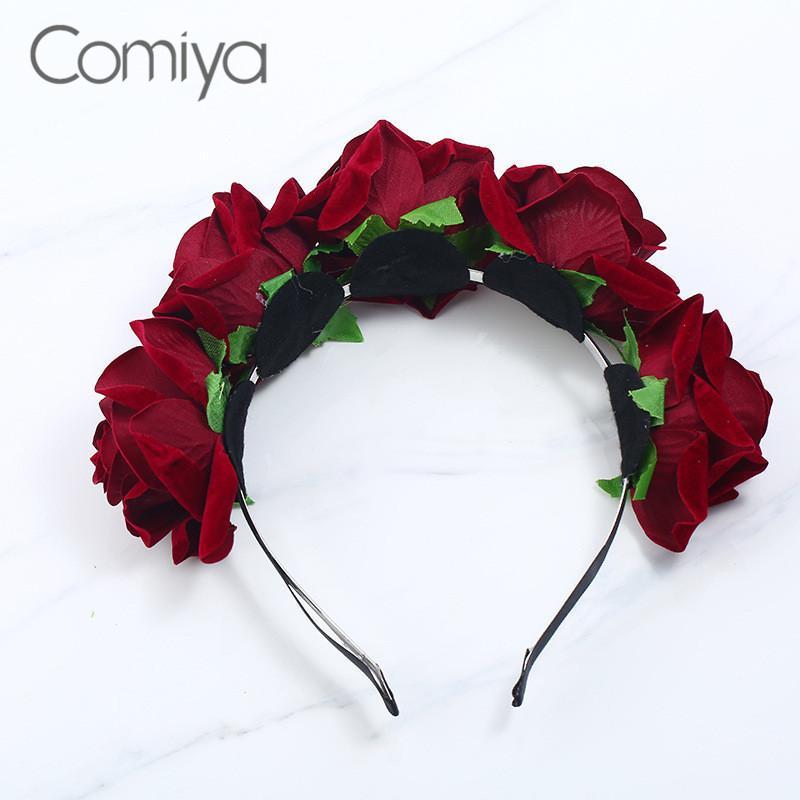 Comiya Roses Accessories Wedding Hair Claws Jewelry Indian Jewelry Peinetas Para Fashion Women Joyas De Festa Femme Wholesales