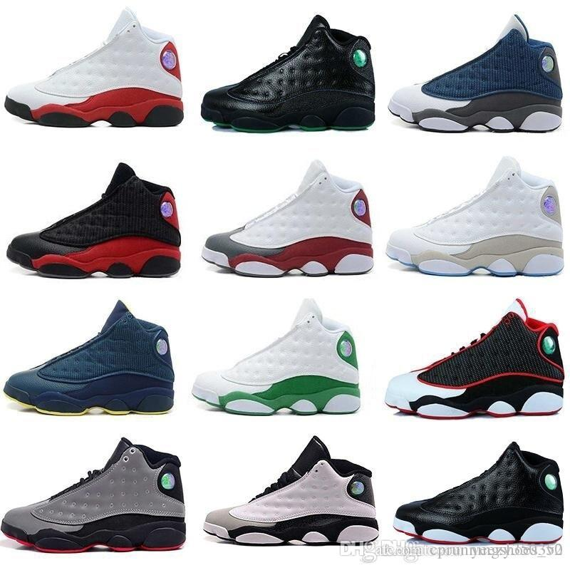 promo code d1c5c 256b8 Acquista Nike Air Jordan 13 Aj13 Retro Mens Designer 2018 13 Scarpe Da  Basket Italia Blue Hyper Royal Black Cat Olive Uomo 13s Sports Trainers  Altitude Love ...