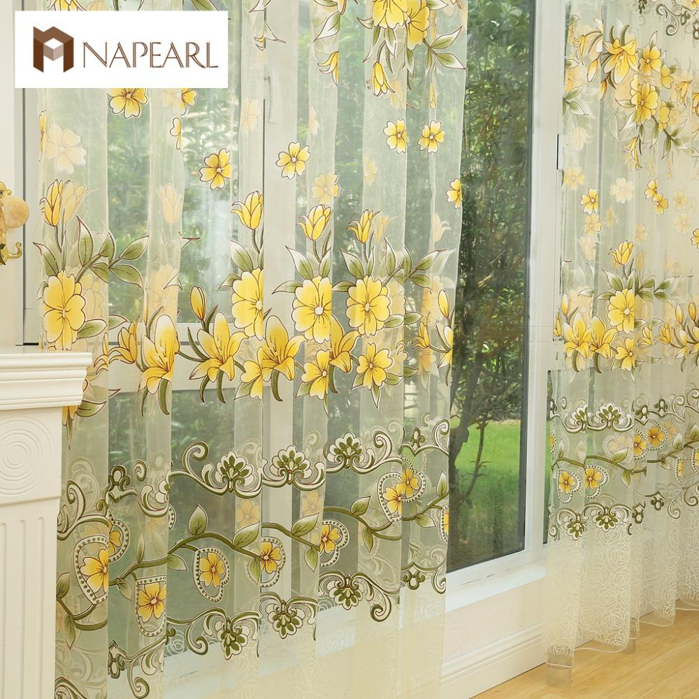 2019 Fashion Design Modern Transparent Tulle Curtains Window Treatments  Living Room Children Bedroom Colorful Yellow Sheer Curtain From Homegarden b237f52ff06a
