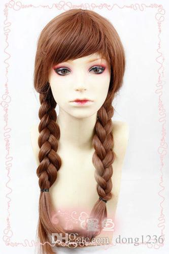 Snow Queen Anna Brown Weave Ponytail Cosplay Anime Wig
