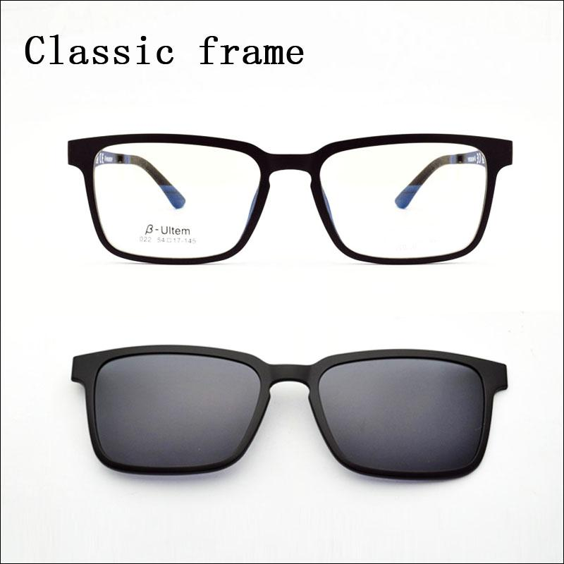54bdbe5290f Ultra-light Glasses Magnet Clip Sunglasses Myopia Glasses Polarized ...