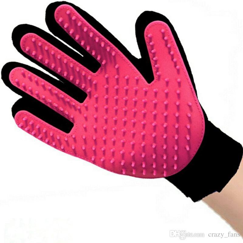Pet Hair Removal Brush Pet Grooming Glove Dog Comb Silicone Bath Mitt Pet Dog Cat Massage Deshedding Gloves