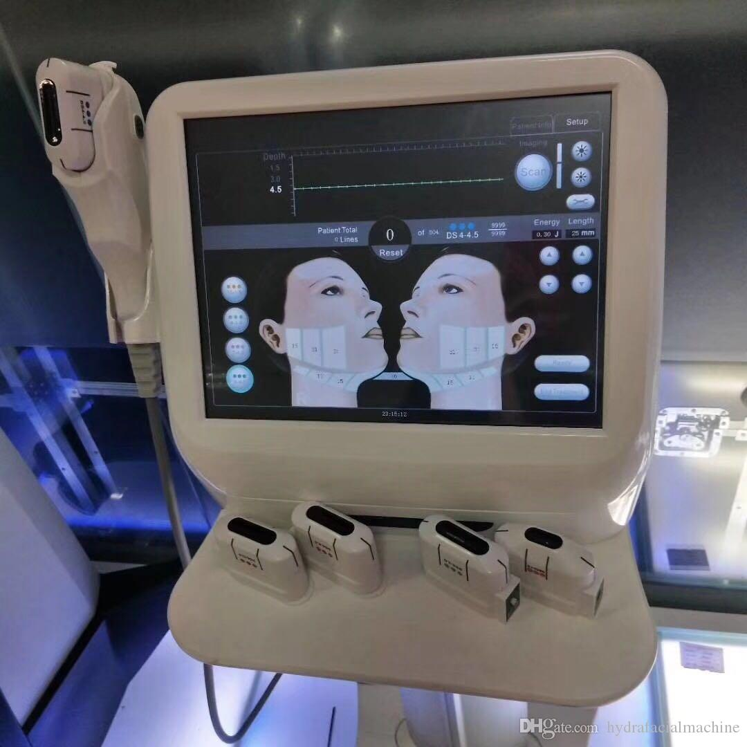 professional ultherapy machine hifu face lifting with 5 hifu cartridges for  facial lifting and body slimming