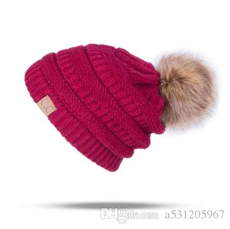 1c8fa2423 Winter Brand Female Ball Cap Pom Poms Winter Hat For Women Girl 'S Hat  Knitted Beanies Cap Hat Thick Women'S Skullies Beanies