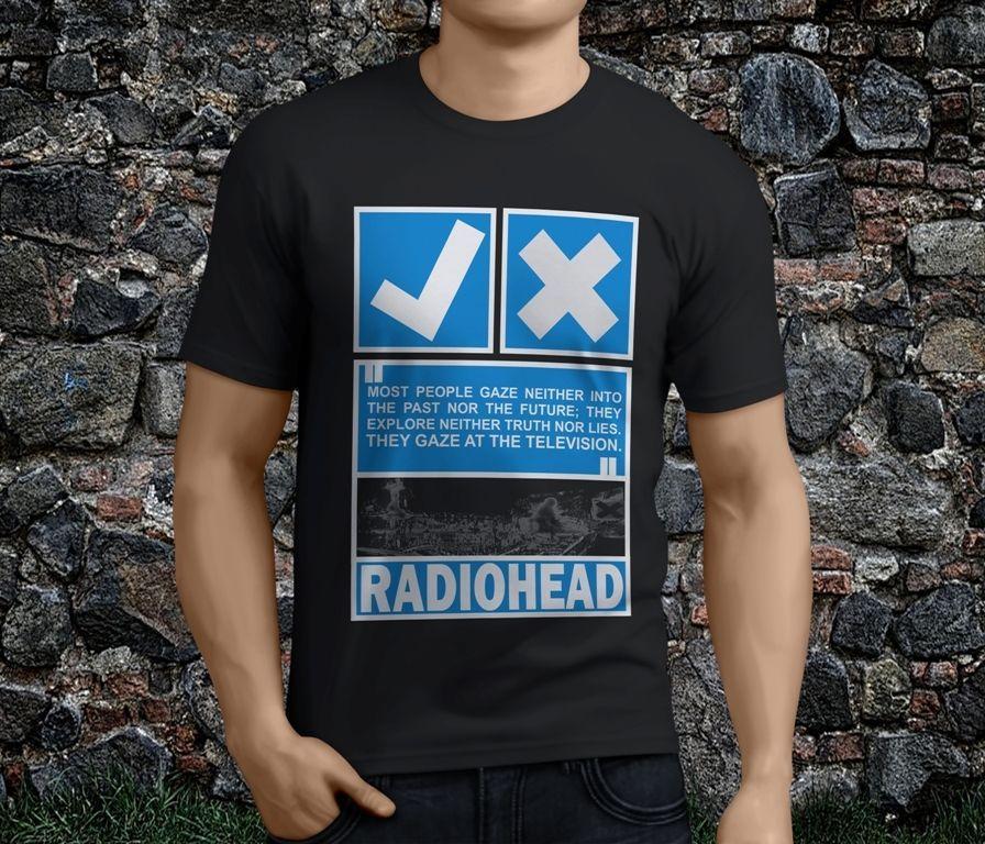 433f448240d1 New Hot Popular VTG 1999 Radiohead Black Men's Tshirt S-3XL Sleeves Cotton T -Shirt Fashion New Fashion Men's Short Sleeve Lonzo Ball