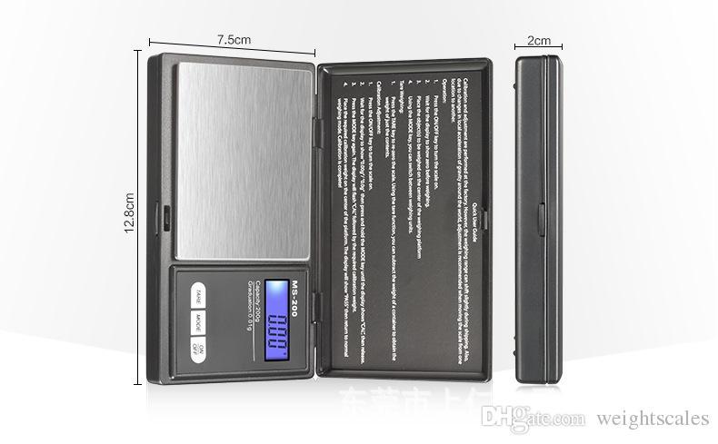 Mini bolsillo Digital Scale 0.01 x 200g Moneda de plata Joyas de oro Weigh Balance LCD Balanza electrónica de joyería digital