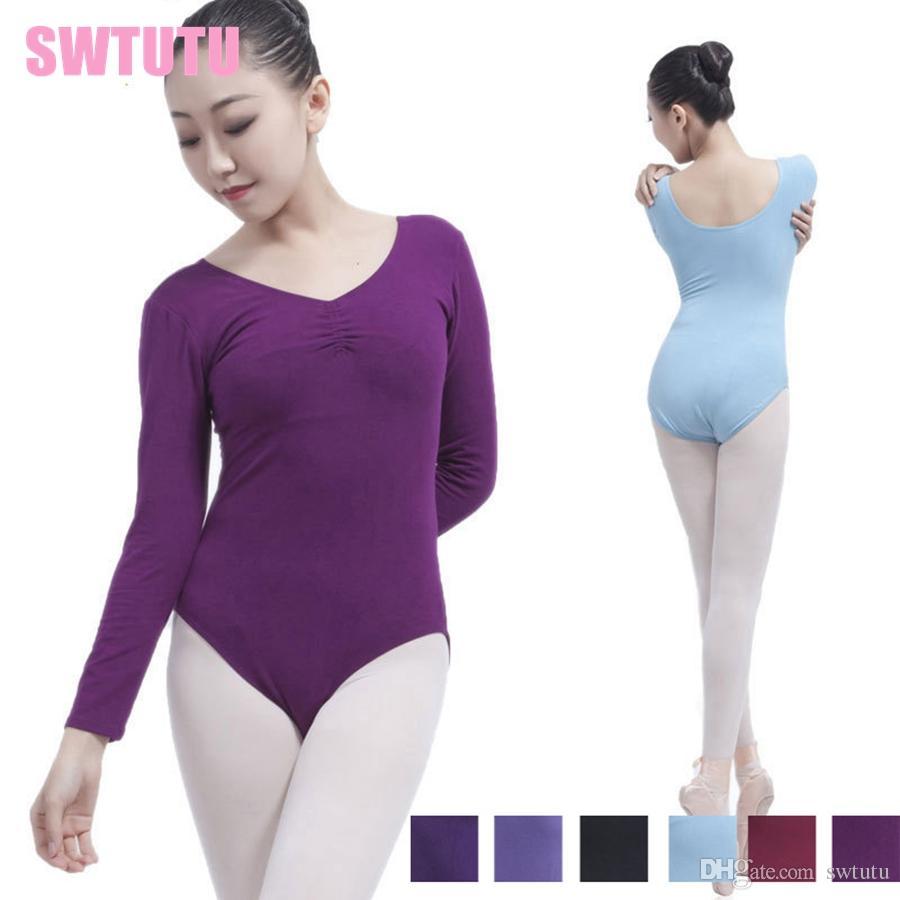 6164692f5 2019 Adult Back Pinch Front Long Sleeve Ballet Leotards For Sale ...