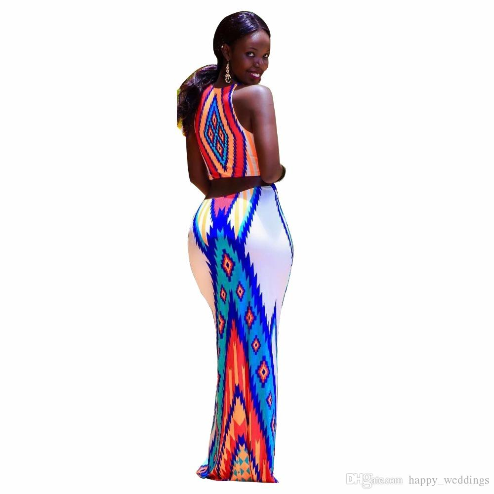 S-3XL 2018 Summer Strap Dresses National Print hole Lady women fashion sexy Bandage casual nightclub Long Maxi dress