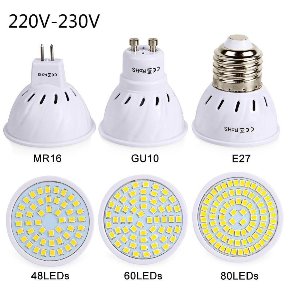 Led 230v Ampoule 220v Smd2835 Maison Pour Haute 80leds E27 À Gu10 Luminosité Mr16 Lampes La 4860 Lampara dCerxWBo