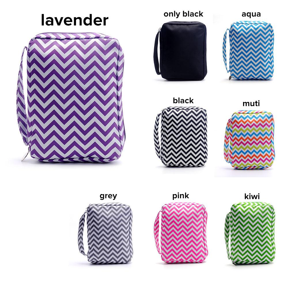 Chevron Bible Cover Wholesale Blanks Zigzag Journal Cover Polyester Zipper Book Wraps School Gift DOM106017