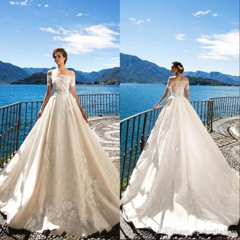 Discount Milla Nova 2019 Off The Shoulder Spring Wedding