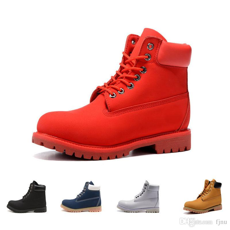 3933fc4f450 2019 Men Women Snow Boots Fashion Red Ourdoor Ankle Winter Boots Sewing  Trekking Mountaineering Climbing Shoes Tactical Combat Boots Non Slip From  Fjnu, ...