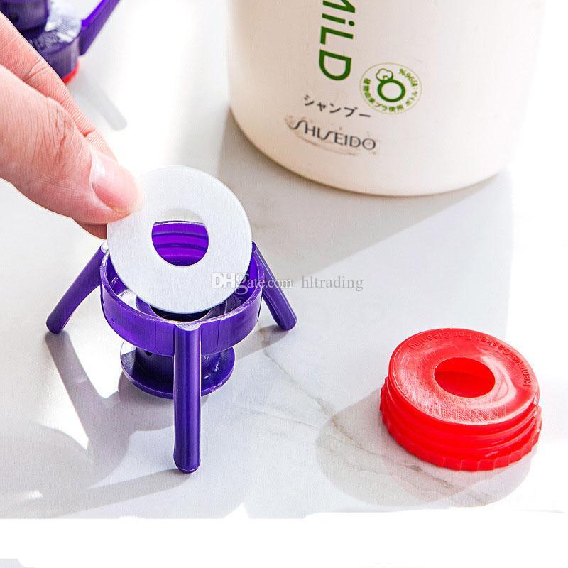 Pipetinas Flip-it para la cocina Botellas de condimentos Baño Gel de ducha Champú Cubierta a prueba de fugas 6 unids / set Porta botellas C3628
