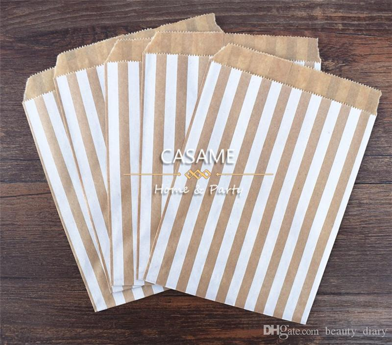 / treat candy bag high quality Party Favor Paper Bags Chevron Polka Dot Stripe Printed Paper craft Bags Bakery Bags