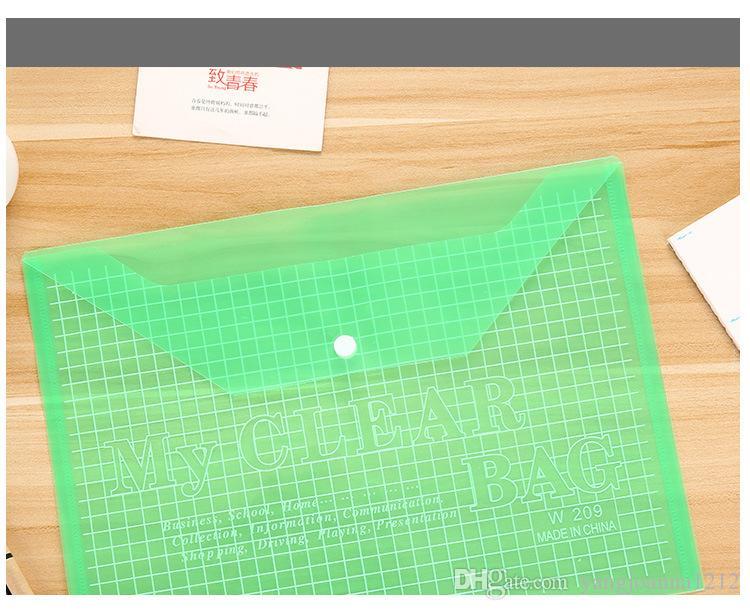 Carpeta de archivo plástica transparente al por mayor del bolso del documento de la escuela de la oficina del anuncio para el sobre de los PP de la información del sobre