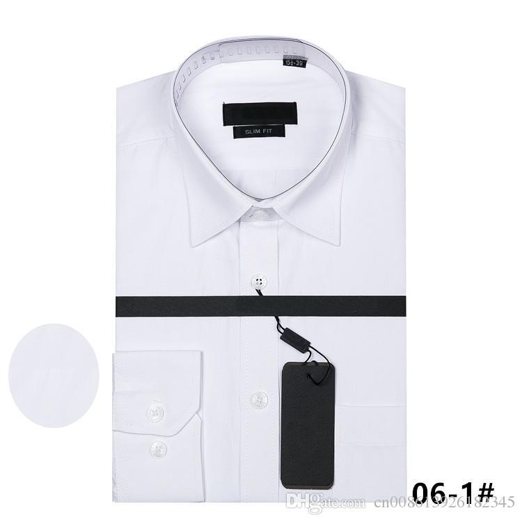 2018 reales bild 100% baumwolle Männliche Shirts Langarm Männer Hemd b0ss Marke Kleidung Camisa Social Masculina Casual Chemise