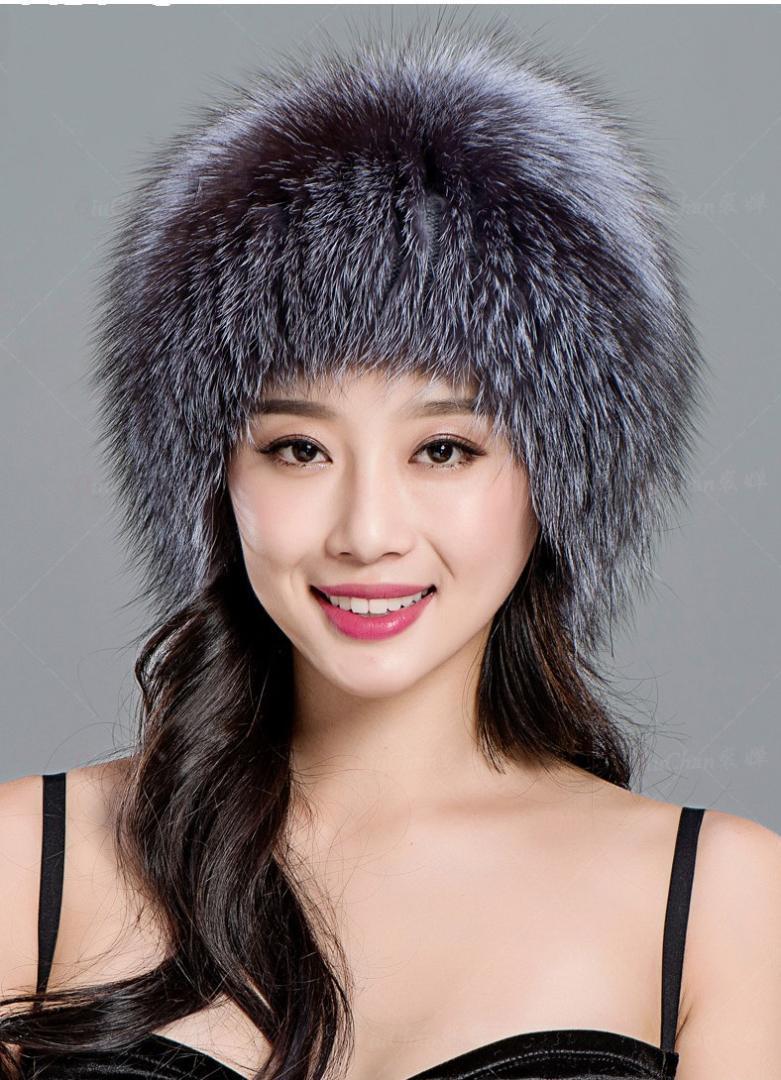 Compre Sombrero De Piel De Zorro Para Señoras Otoño E Invierno Gorros  Calientes Para Mujer Sombrero De Punto Elástico A  81.41 Del Amoywatches  23e07dbab6e