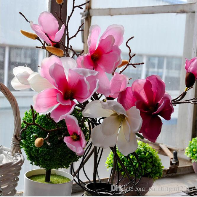 2019 Simulation Hotel Magnolia Decor Flower Bouquet Pretty Wedding