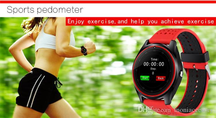 2017 В9 smartwatch android V8 DZ09 U8 samsung смарт-часы SIM интеллектуальный мобильный телефон часы могут записывать состояние сна смарт-часы