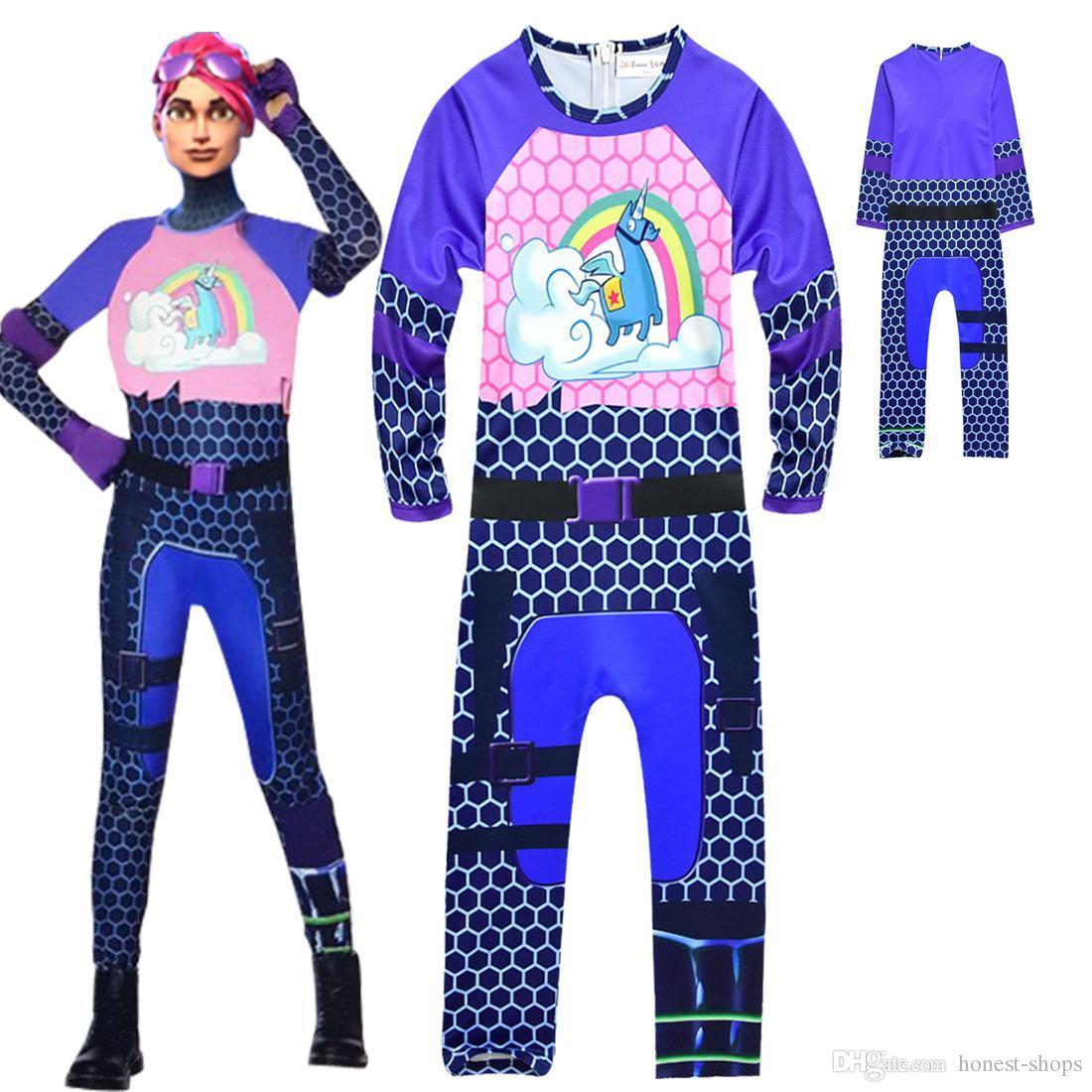 Ins Girls Fortnite Unicorn Jumpsuit Game Fortnite Cosplay Big Child