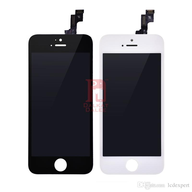 For iPhone 5 5S 5C SE Shenchao LCD Display Touch Screen Digitizer Complete with Frame Assembly Replacement Repair Parts by DHL