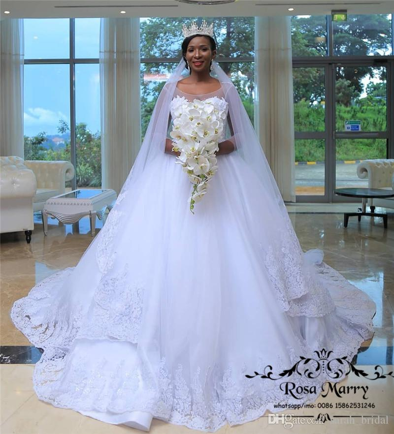 b8d6c151ab5 Bellanaija Lace Ball Gown African Wedding Dresses 2018 Plus Size Long  Sleeves Vintage Lace Cheap Arabic Nigeria Dubai Wedding Bridal Gowns  Vintage Dresses ...
