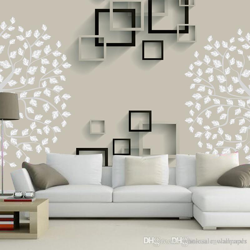 Großhandel Europäische Einfache Luxus Beige Vliesstoff Tapete Für Wand 3 D  Classic Geprägte TV Zimmer Schlafzimmer Tapeten Wohnkultur Von ...