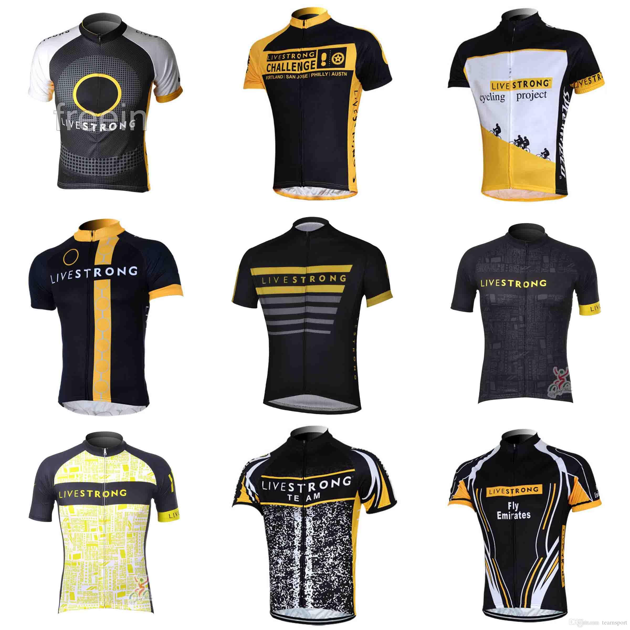 872217cc9 LIVESTRONG Team Cycling Jersey 2018 New Hot Men Cycling Jersey Cycling  Clothes Wholesale Cycling Clothing Quick Dry Sportwear 840209 Cheap Cycling  Jerseys ...